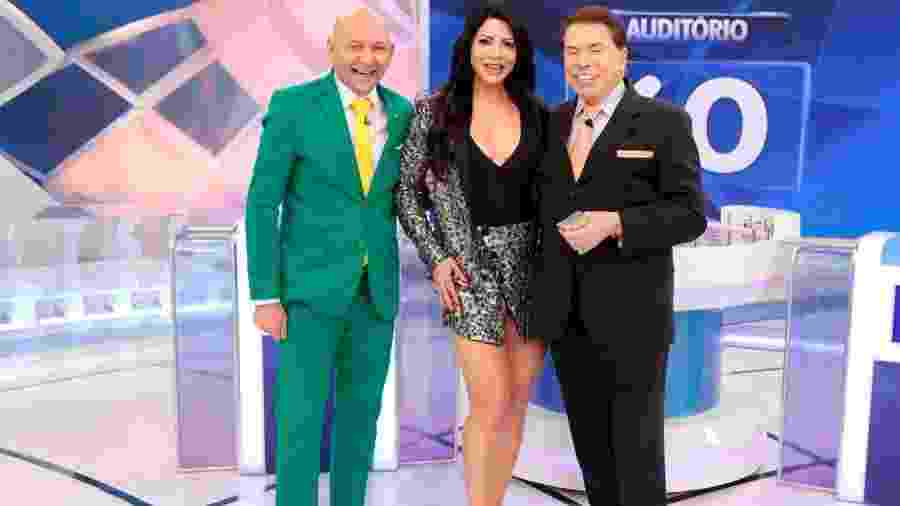 Luciano Hang, Sylvia Design e Silvio Santos no SBT - Lourival Ribeiro/SBT
