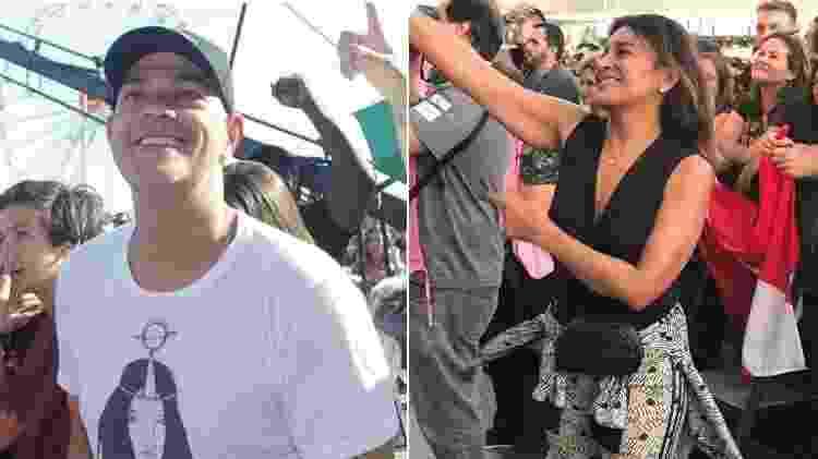 Eduardo Moscovis e Dira Paes no Rock in Rio 2019 - Brazil News/UOL - Brazil News/UOL