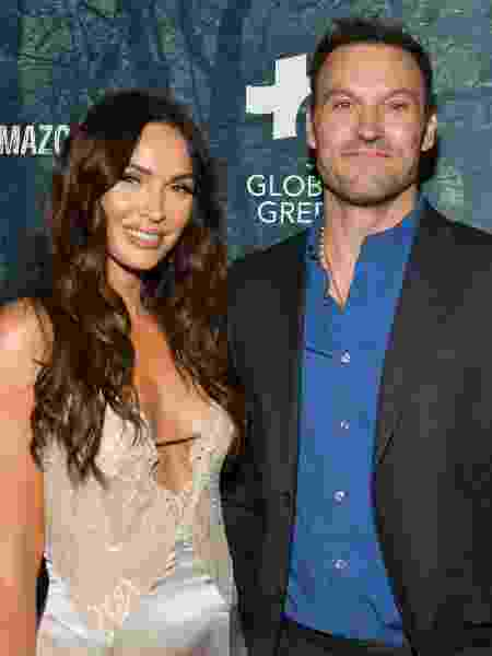 10.12.2019 - Megan Fox com o marido, Brian Austin Green, em evento em Los Angeles - Getty Images