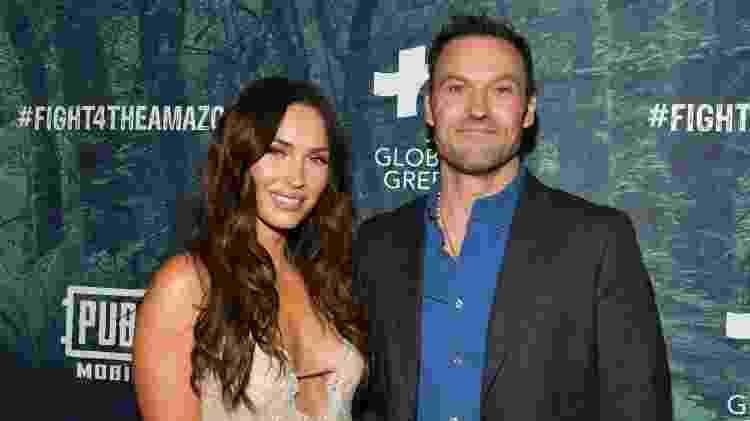 10.12.2019 - Megan Fox com o marido, Brian Austin Green, em evento em Los Angeles - Getty Images - Getty Images