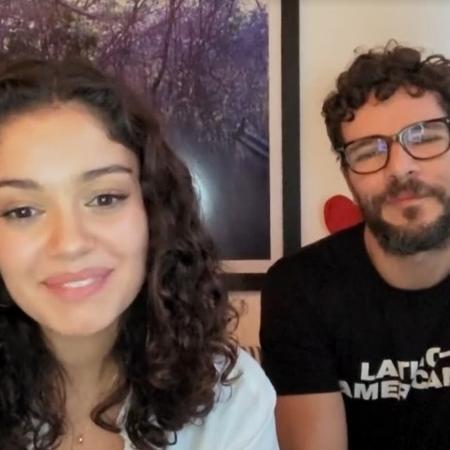 Sophie Charlotte e Daniel de Oliveira no Conversa com Bial - Reprodução/vídeo