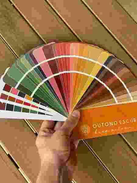 Colorimetria - cartela cores  - Arquivo pessoal - Arquivo pessoal