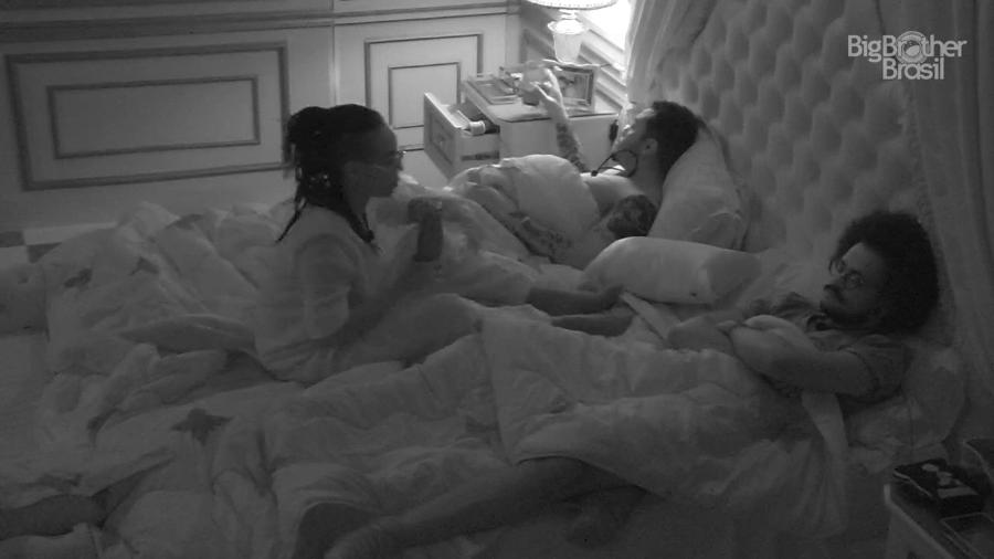 BBB 21: Karol fala sobre Lucas para Nego Di e João no quarto do líder - Reprodução/Globoplay