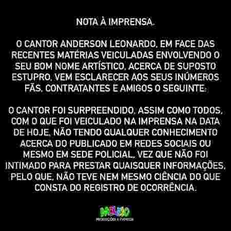 Anderson Leonardo nega as acusações de abuso sexual - Divulgação - Divulgação