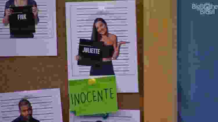 BBB 21: Carla dá placa de Inocente para Juliette - Reprodução/ Globoplay - Reprodução/ Globoplay