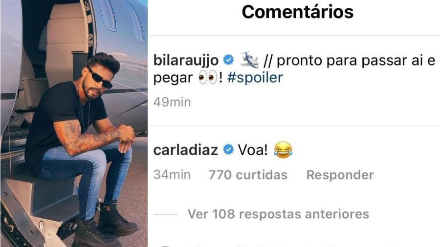 Arcrebiano posta foto e recebe comentário de Carla Diaz - Reprodução/Instagram