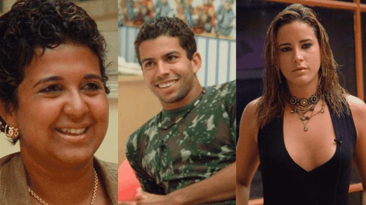 Cida, Thiago e Juliana no BBB 4 - Reprodução/TV Globo - Reprodução/TV Globo