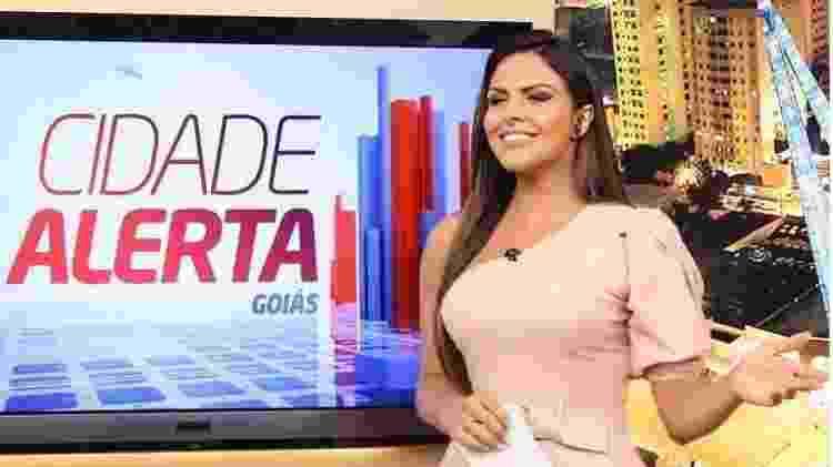 """A apresentadora Silvye Alves comanda o """"Cidade Alerta"""" local em Goiás, da Record TV - Reprodução/Instagram - Reprodução/Instagram"""