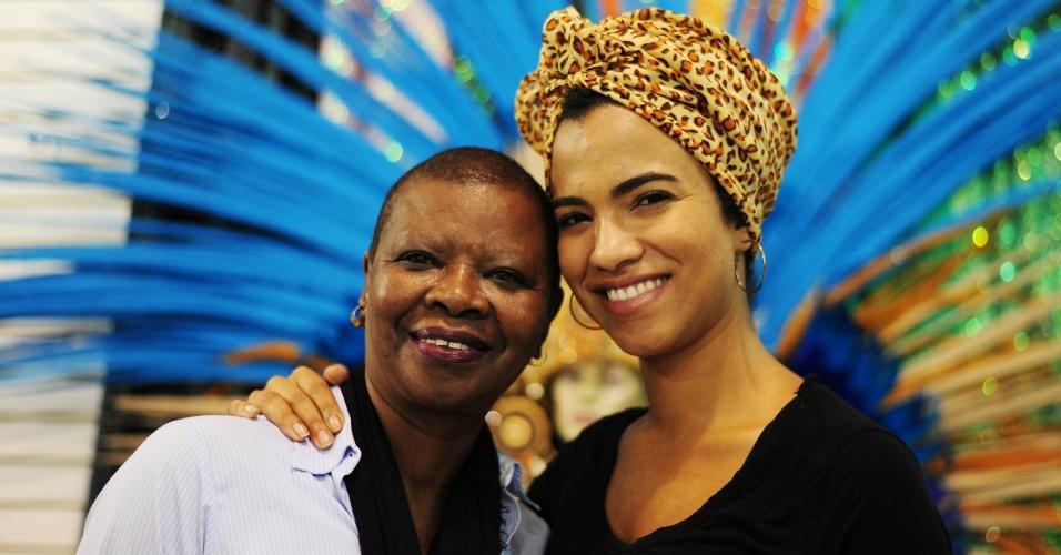 Pinah e a filha Claudia Di