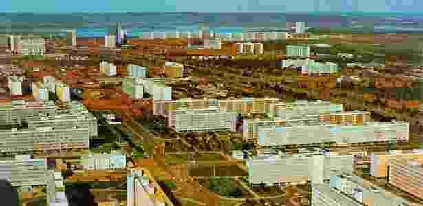 Vista das quadras 105 e 106 Sul nos anos 1960 - Divulgação / Arquivo Público do Distrito Federal - Divulgação / Arquivo Público do Distrito Federal