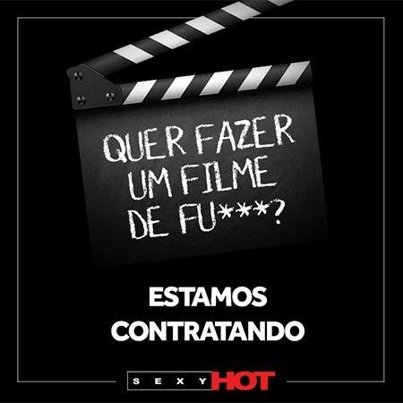 Anúncio do Sexy Hot para interessados em atuar em filmes pornôs - Divulgação