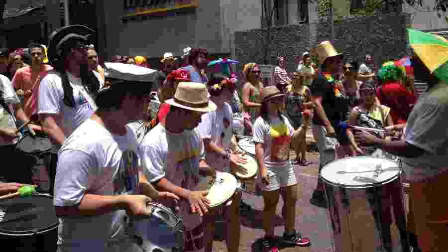 Foliões curtem o bloco Todo Mundo Cabe no Mundo, em Belo Horizonte, no Carnaval de 2016 - Divulgação/Leonardo Medina