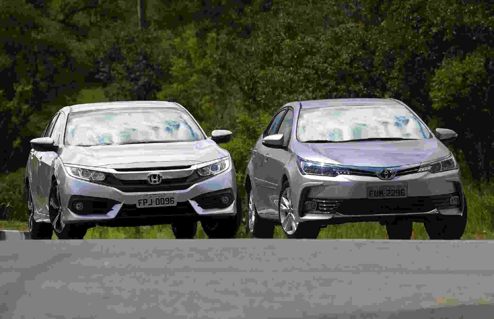 Honda Civic EXL e Toyota Corolla XEi - Murilo Góes/UOL