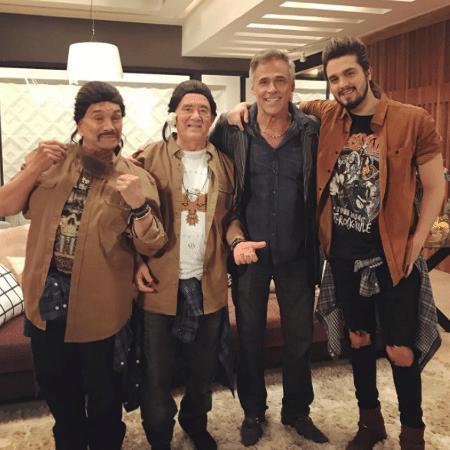 Luan Santana ao lado de Renato Aragão, Dedé Santana e Oscar Magrini - Reprodução/Instagram