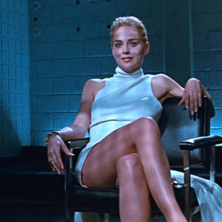 """Sharon Stone em cena de """"Instinto Selvagem"""" (1992) - Divulgação"""