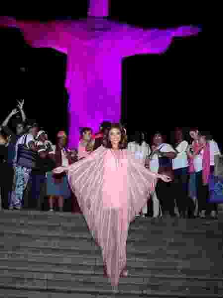 Juliana Paes participa de evento no Cristo Redentor, no  Rio - Imagem/AgNews