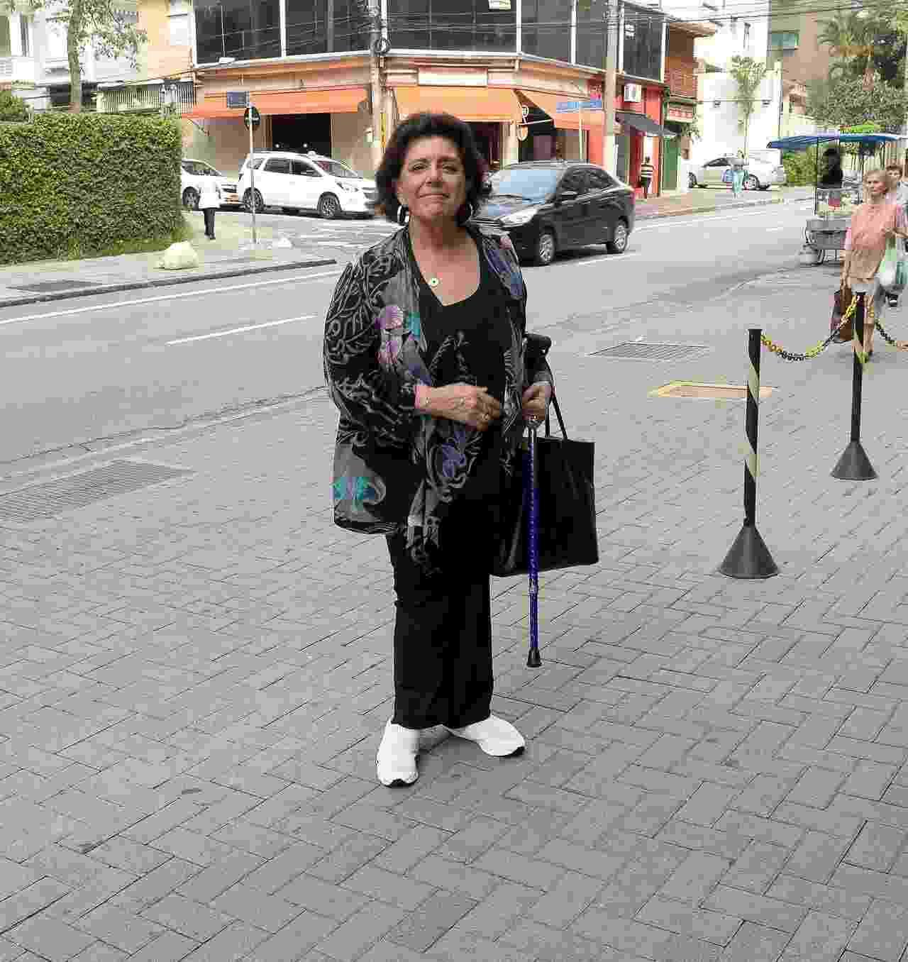 Leda Nagle, sogra de Sabrina Sato, chega à maternidade na região da Avenida Paulista - AgNews