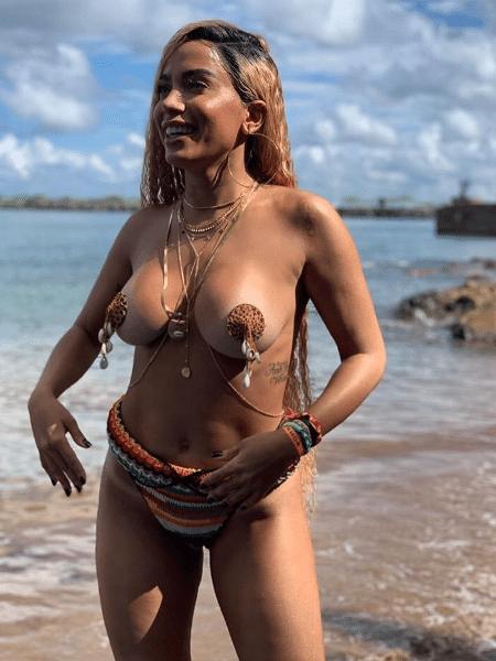 """A cantora Anitta grava clipe de """"Bola, Rebola"""" em Salvador - Reprodução/Instagram"""