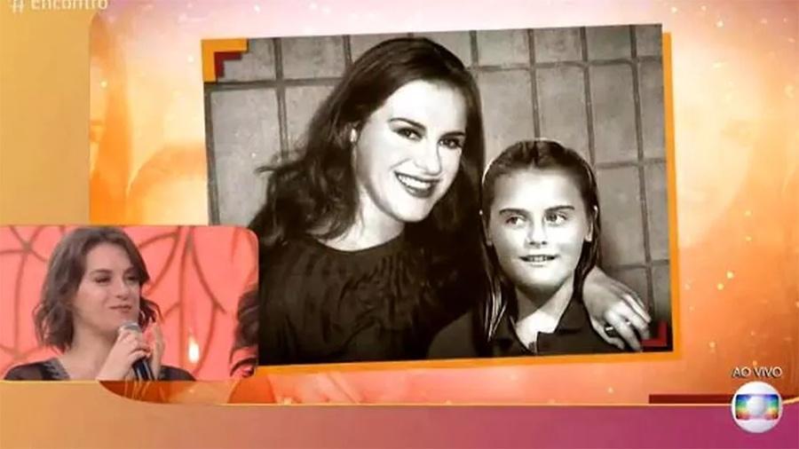 """Alessandra Maestrini vê montagem dela na infância e dá conselhos: """"Não precisa fingir que você tem outra sexualidade"""" - Reprodução/Globo"""