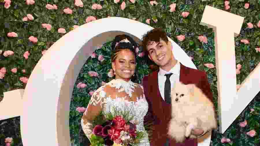 Jeniffer Nascimento ao lado do marido, Jean Amorim - Manu Scarpa/Brazil News