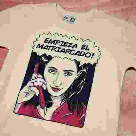 Camiseta com frase icônica da personagem Nairobi - Jenifer Prince para Chico Rei