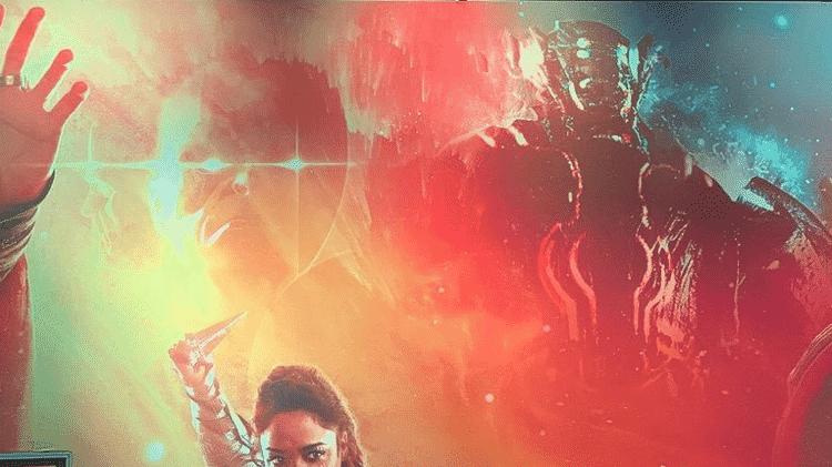 Detalhe de arte promocional da Marvel na D23 - Reprodução/Twitter