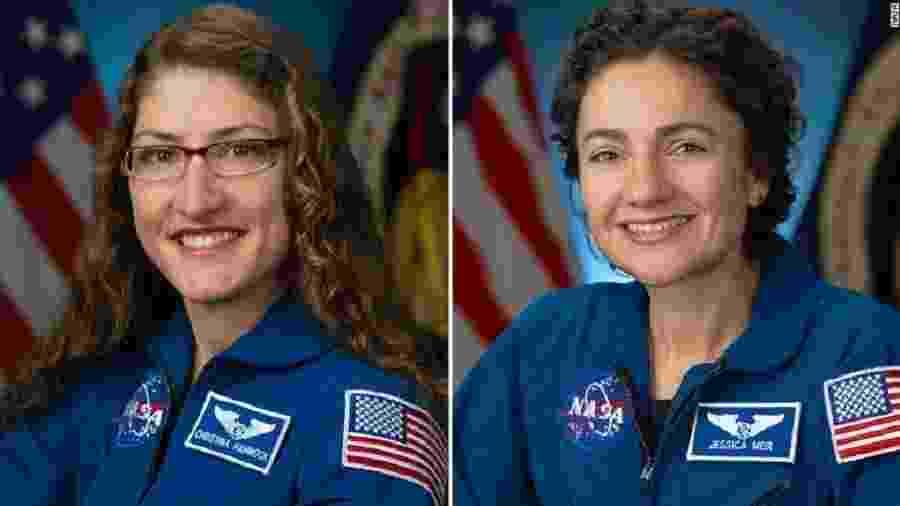 Christina Koch e Jessica Meir devem sair juntas da Estação Espacial Internacional - Reprodução/NASA