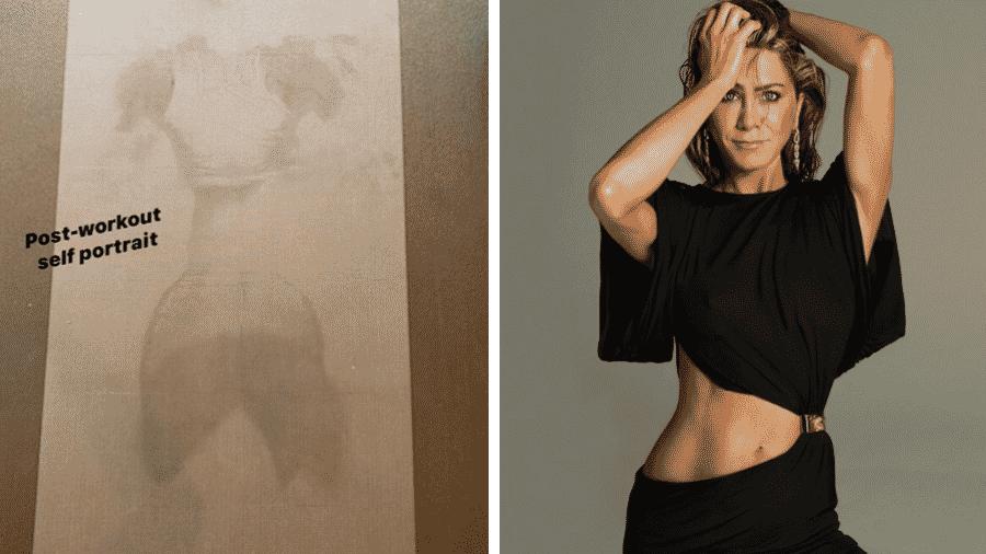 """A protagonista de """"Friends"""" dividiu com seguidores resultado de aula de ioga - Reprodução/Instagram"""
