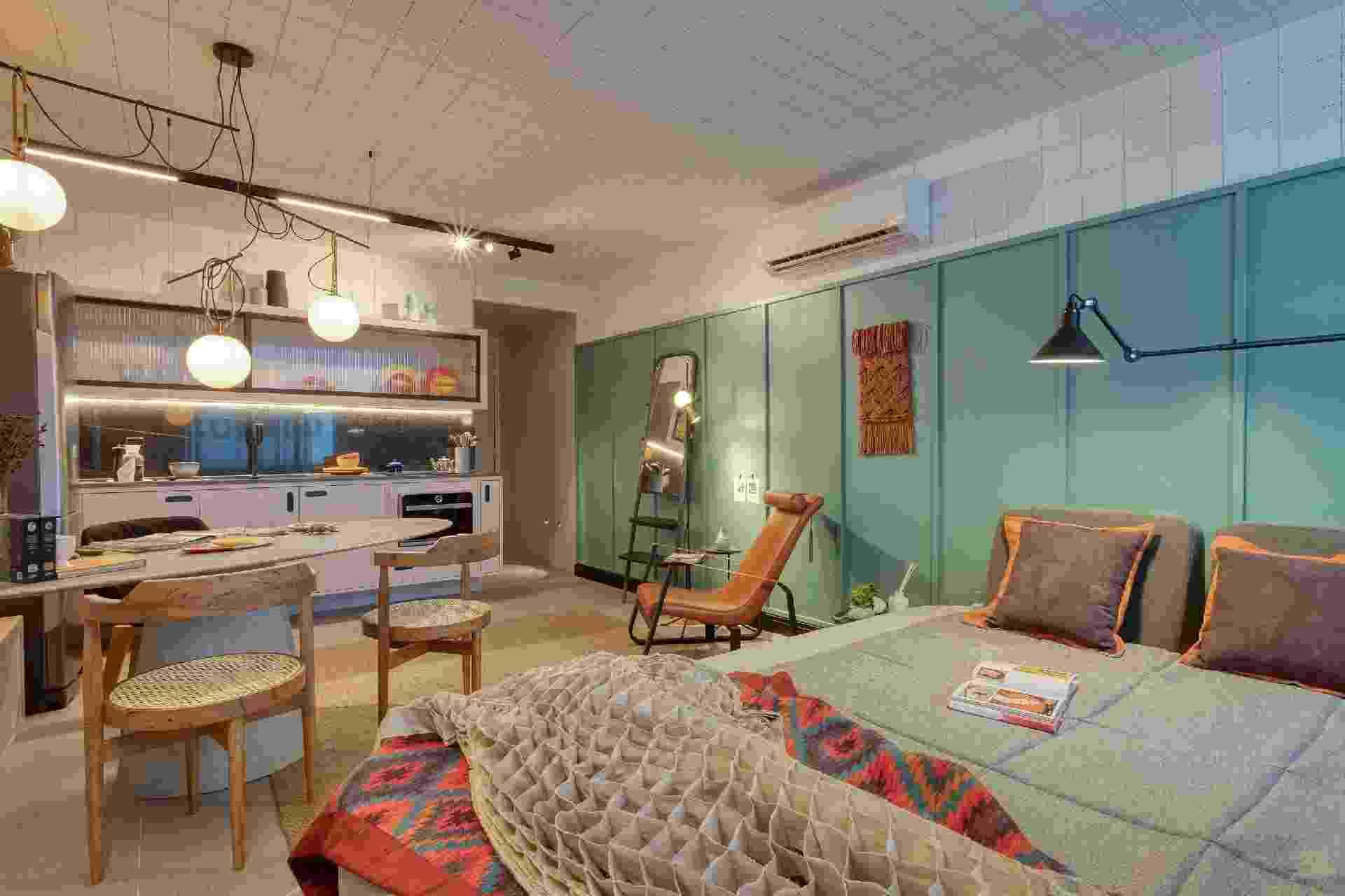 Studio de 32m² mistura conforto e estilo para o dia a dia com o home office - Cité Arquitetura