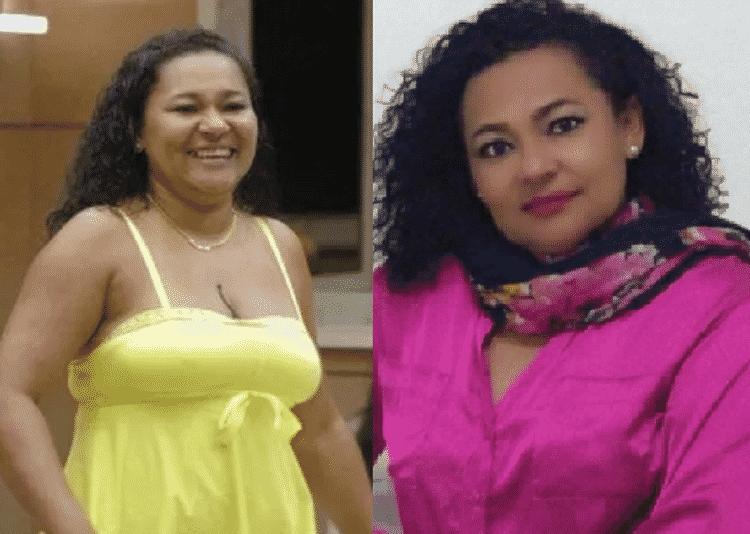 Mara Viana no BBB6 e hoje - Reprodução - Reprodução