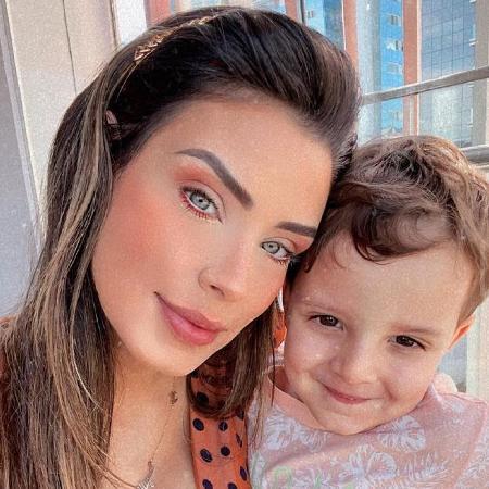 Ivy Moraes e o filho, Luiz Miguel - Reprodução/Instagram