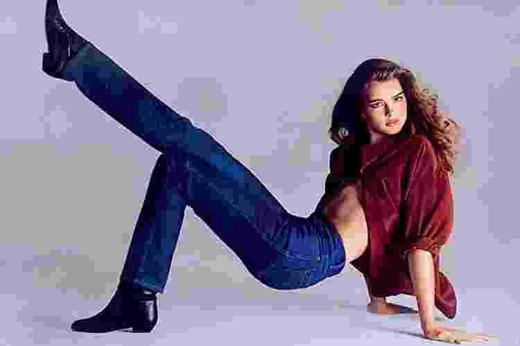 Brooke Shields para a Calvin Klein nos anos 1980 - Reprodução - Reprodução
