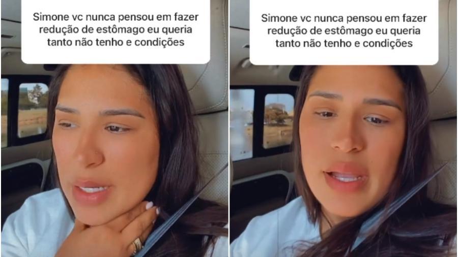 Simone Mendes recusa cirurgia para reduzir estômago - Reprodução/Instagram