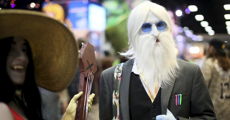 9.jul.2015 - Chris Kiley mostra seu figurino de Iceman na Comic-Con, em San Diego, na Califórnia