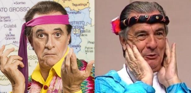 """Marcos Caruso (à esquerda) e Orlando Drummond: os """"Perus"""" da """"Escolinha do Professor Raimundo"""" - Montagem/Divulgação/Reprodução"""