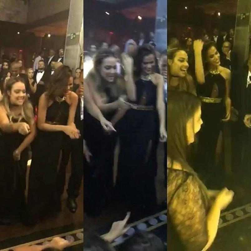 Bruna Marquezine curte festa da mãe de Neymar com Carol Dantas