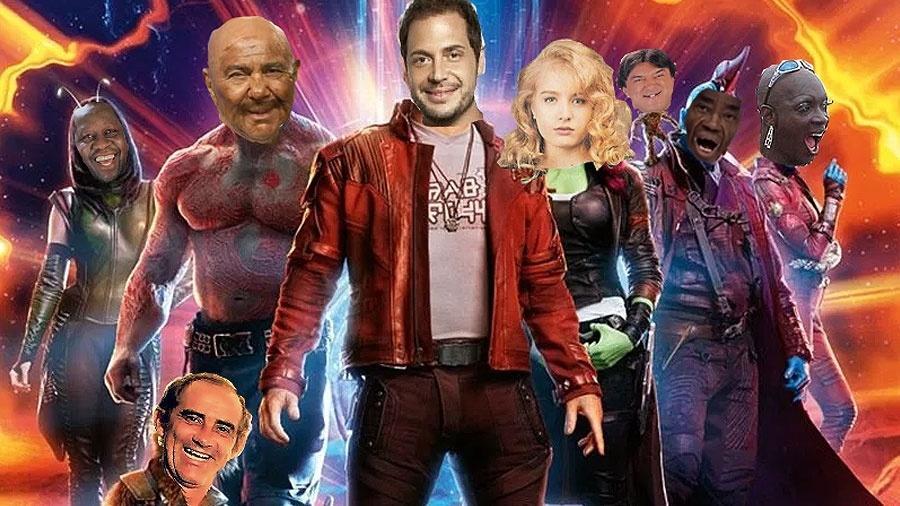 Os Trapalhões da Galáxia? Sucesso da Marvel segue receita semelhante à dos brasileiros - Montagem UOL