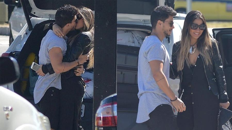 Mayra Cardi é recebida com beijo de Arthur Aguiar ao desembarcar no Rio - William Oda/Ag.News