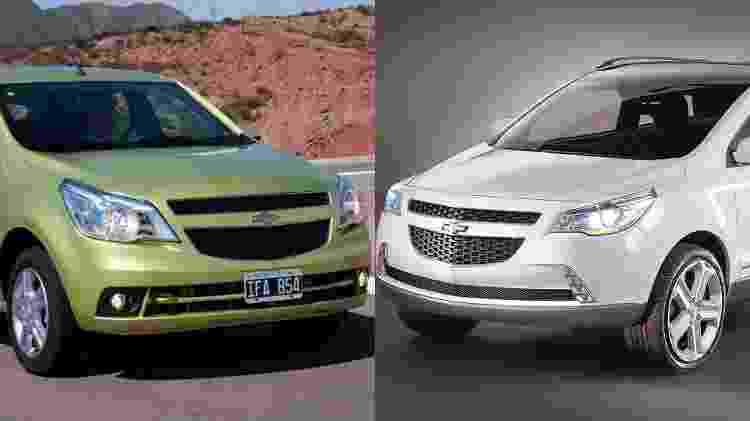 Chevrolet Agile e GPix - Arte UOL Carros - Arte UOL Carros