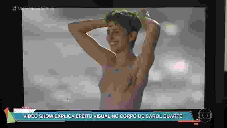 """Globo mostra como tirou seios de Carol Duarte para cena final de Ivan em """"A Força do Querer"""" - Reprodução/TV Globo"""