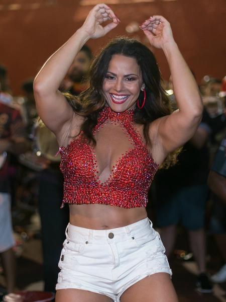 Viviane Araújo em ensaio do Salgueiro, no Rio de Janeiro - Alex Nunes/Divulgação