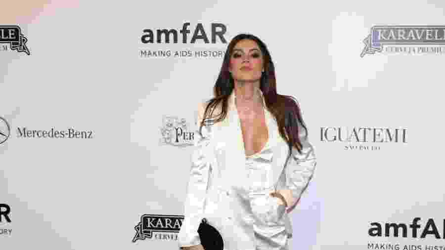 Thaila Ayala no baile da amfAR, em São Paulo - Deividi Correa / Léo Franco e Thiago Duran / AgNews