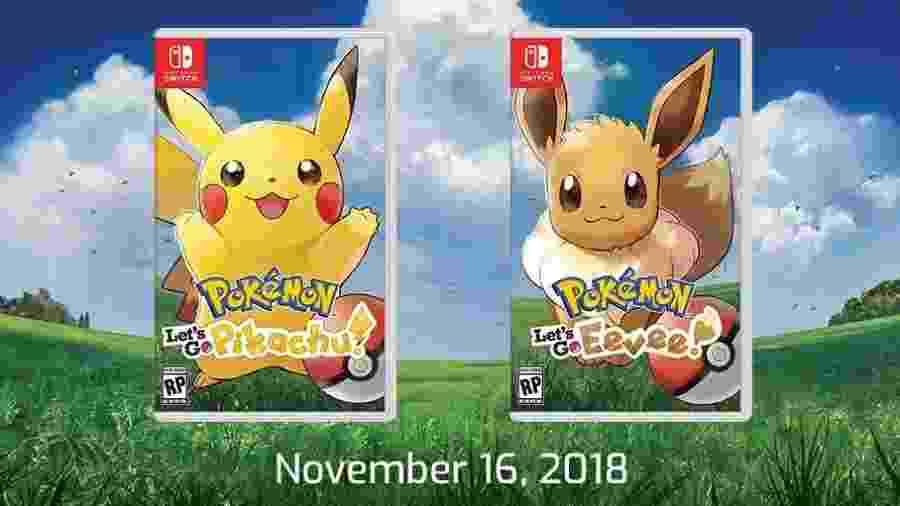 """Caixas de Pokémon: Let""""s Go, Pikachu! e Pokémon: Let""""s Go Eevee! - Reprodução"""