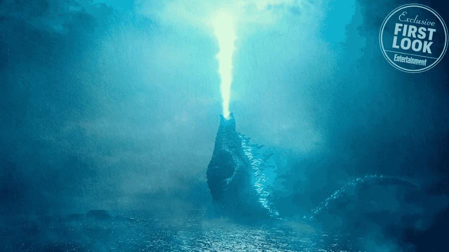"""Primeira cena de Godzilla em """"Godzilla: King of Monsters"""" - Reprodução/Entertainment Weekl/Warner Bros."""