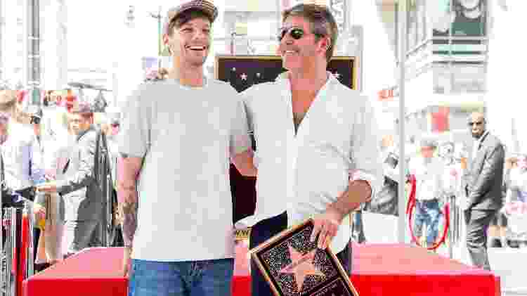 Louis Tomlinson, do One Direction, comparece a homenagem a Simon Cowell - Rich Fury/Getty Images/AFP - Rich Fury/Getty Images/AFP