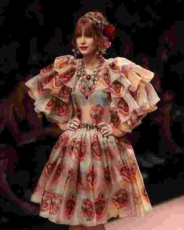 Desfile Dolce & Gabbana - Marina Ruy Barbosa - Reprodução/Instagram