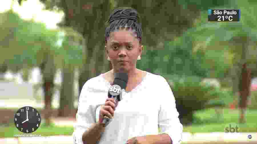 A repórter Tatiane Ferreira, do SBT, desabafou sobre racismo - Reprodução/SBT