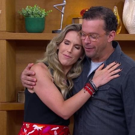"""Fernando Rocha e Mariana Ferrão no """"Bem Estar"""" - Reprodução/Globo"""