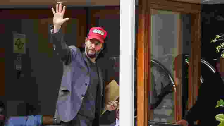 Keanu Reeves acena em um hotel de São Paulo - Clayton Felizardo/Brazil News - Clayton Felizardo/Brazil News