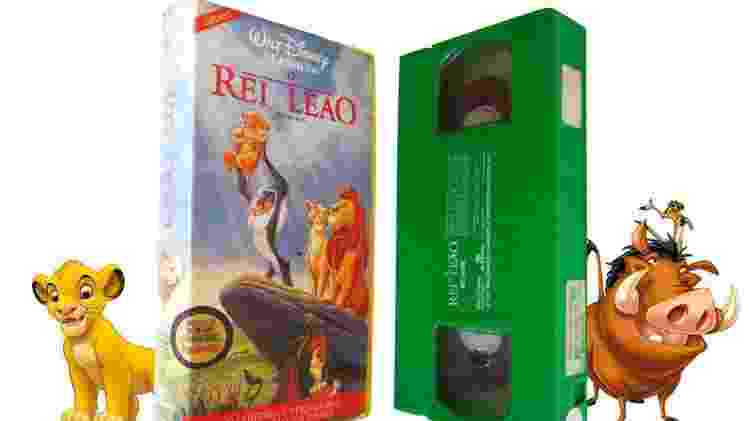 Fita VHS verde de O Rei Leão - Reprodução - Reprodução